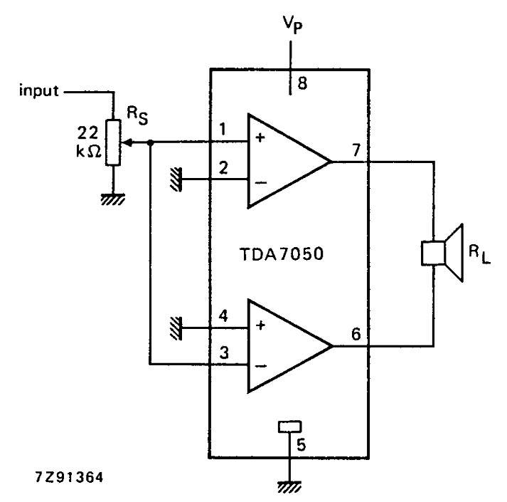 на микросхеме tda7050 clip